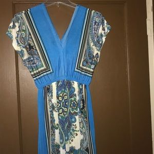 Dresses & Skirts - Blue patterned bohemian dress